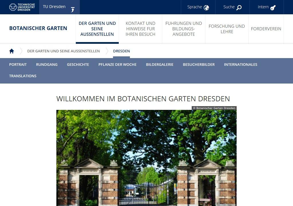 Vorschau: Botanischen Garten Dresden